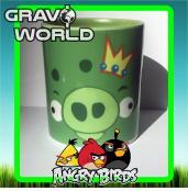 Hrnek s motivem - Angry Birds - zelené prasátko