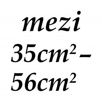 mezi 35cm2 - 56cm2