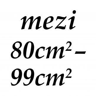 mezi 80cm2 - 99cm2