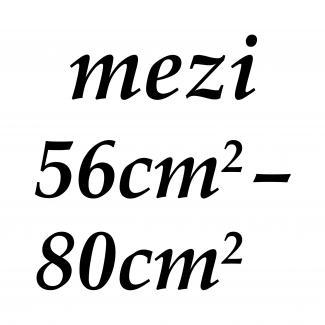 mezi 56cm2 - 80cm2