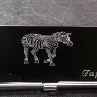 Vizitkář s rytím zebra