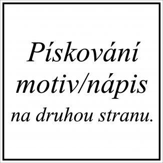 Pískování motiv, nápis